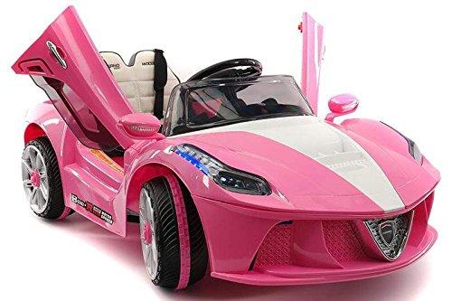 PINK Ferrari ride-on car for girls