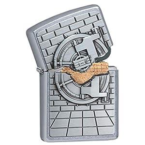 Zippo Unisex Seguro con Caja Sorpresa Regular Resistente al Viento más Ligero, Calle Chrome, un tamaño 5