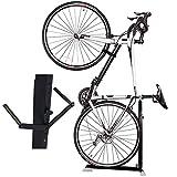 Bike Nook Pro - Soporte para bicicleta, portátil y estacionario, ahorro de espacio, altura ajustable, para almacenamiento de bicicletas en interiores