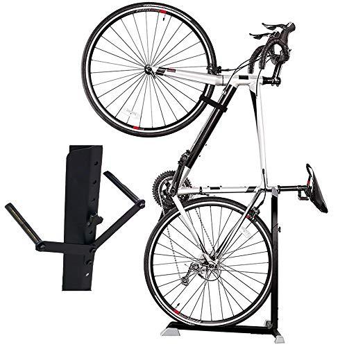 Bike Nook Pro - Soporte para bicicleta, portátil y estacionario, ahorro de espacio con altura ajustable, para almacenamiento de bicicletas en interiores