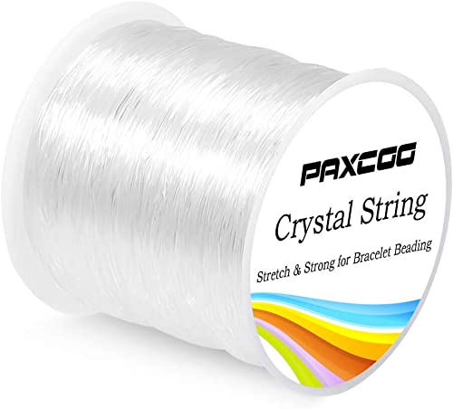 Paxcoo 0.8mm Elastic String, Stretchy Bracelet String Crystal String Bead Cord for Bracelet, Beading and Jewelry Maki...