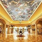 3D tapete benutzerdefinierte größe fototapete wohnzimmer decke wandbild engel götter des himmels malerei tapete, 170x120cm