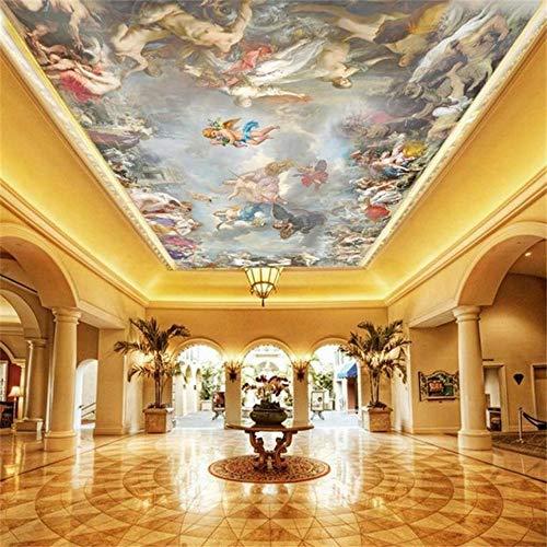 3D tapete benutzerdefinierte größe fototapete wohnzimmer decke wandbild engel götter des himmels malerei tapete, 215x140cm
