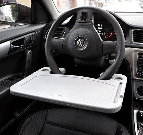 Kkone - Bandeja, mesa portátil para ordenador, soporte portátil para el volante de coche, todoterreno, camión, color gris