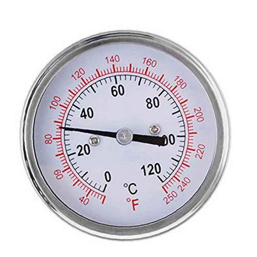 XKJFZ Horno De La Cocina Parrilla De Alta Temperatura De Cocción De Monitoreo Termómetro Bimetal Termómetro 0-120 ° C Rango De Temperatura TS-Bx39 Blanco