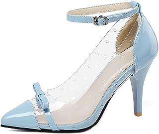 Melady Women Fashion Clear Pumps Ankle Strap