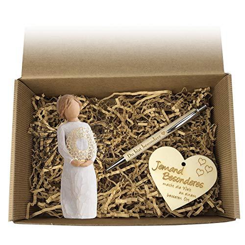 Geschenkbox 'JEMAND BESONDEREN' / Willow Tree/Geburtstag/Box/Präsent Korb/Geschenk/Figur