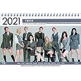 TWICE トゥワイス グッズ 卓上 カレンダー (写真集 カレンダー) 2021~2022年 (2年分) + ステッカーシール [12点セット]