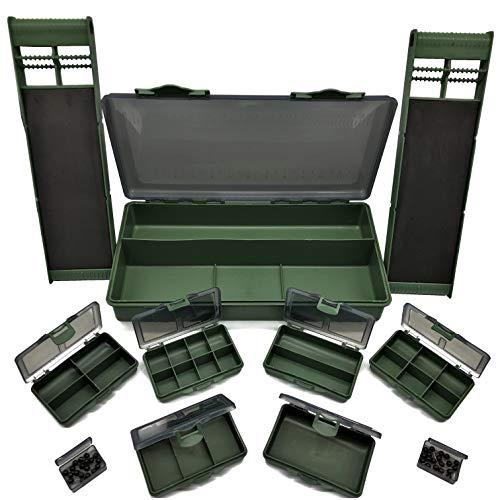 Medium Soft Sided Tackle Box 4 boîtes de rangement Bandoulière /& 5 compartiments