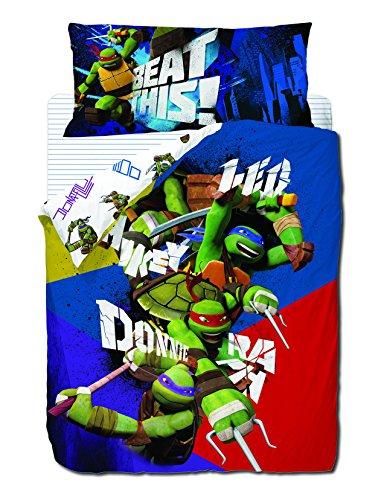 Nickelodeon Plain Funda NÓRDICA 3 Piezas Cama 90, Negro/Azul, XL
