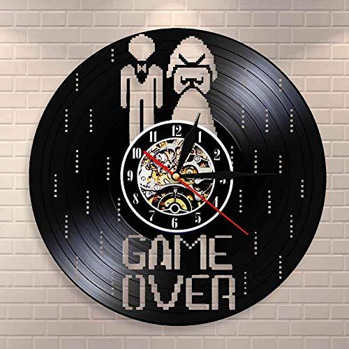 Reloj de pared con diseño de Game Over Matrimonio divertido videojuego de despedida de soltera, regalo de boda, disco de vinilo, reloj de pared para matrimonio, compromiso, decoración de fiesta
