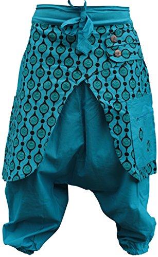 Unisex Eye Print Hippie Harem Loose Pants Bohoo Retro Gypsy Baggy Hippy Trouser