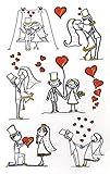 AVERY Zweckform 55181 Papier-Sticker Brautpaar 9 Aufkleber (weiß, schwarz, gold, Dekosticker, selbstklebend, Gastgeschenk, Einladung, Hochzeitskarte, Hochzeit, Geschenke, Fotoalbum, Gästebuch)
