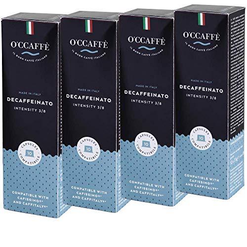 O'CCAFFÈ – Decaffeinato | Tchibo Cafissimo kompatible Kaffeekapseln | 120 Stück | Koffeinfreier Kaffee aus extra langsamer Trommelröstung aus italienischem Familienbetrieb
