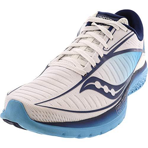 Saucony Women's Kinvara 10 Running Shoe - Color: White/Blue (Regular Width) - Size: 6