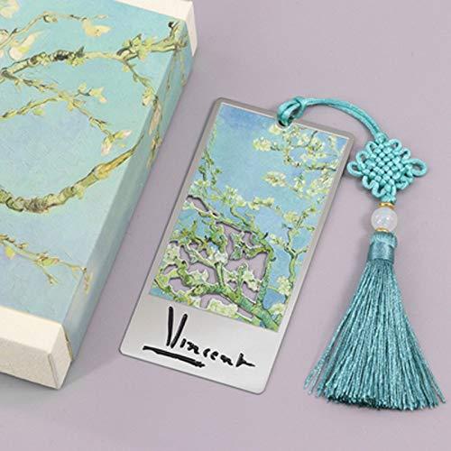Segnalibri Apricot Blossom segnalibro del metallo, arte creativa regalo con nappa segnalibro, Souvenir regalo creativo for maschi e femmine Insegnanti Articoli di Cancelleria