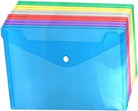 Scicalife 12Pcs Dokument Fickor Clear A4 Fil Mappar Plast Fil Lagring Pungor Med Knapp Dokument Organiserare Väska För Sko...