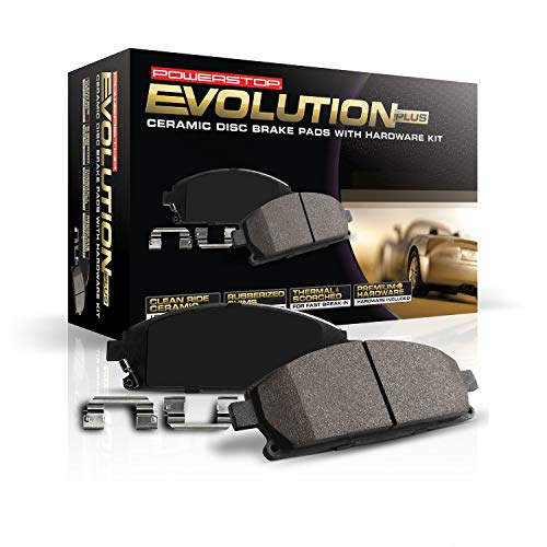 Power Stop 17-1826, Z17 Front Ceramic Brake Pads with Hardware