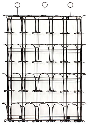Black Wire Wall Mounted Brochure Rack Features 24 Pockets, 27-3/4 x 41-1/2 x 2-1/2-Inch, Displays 4 x 9-Inch Literature, Includes Pre-Drilled Holes and Mounting Hardware Photo #3
