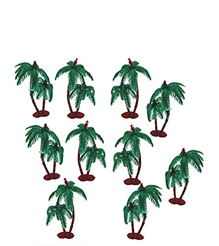 imtion artificial mini coconut tree for project making (10 pieces) use of school project work-Green