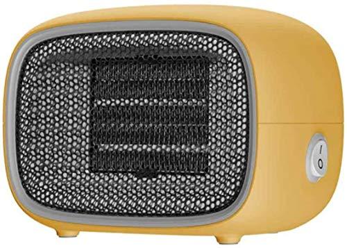 AYCYNI Heizheizung, Instant Electric Fan, Kleiner Haushaltsheizung, geeignet für Büro, Schlafsaal, Schlafzimmer, Weiß, EU (Farbe, gelb, Größe, EU),Gelb,EU