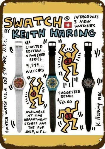 Laptopo 1986 KEITH HARING SWATCH ART Vintage Look placa de metal *...