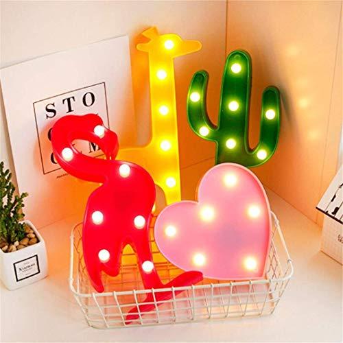CC6 Nacht Licht Mini Led Cactus Wandverlichting Slaapkamer Romantisch Meisje Hart Creatieve Decoratie Muur Hangende Nachtlampje