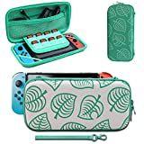 Carrying Case Compatible with Switch, [for Animal New Horizons Edition] New Leaf Crossing Design, Portable Travel Carry Case Bag for Switch