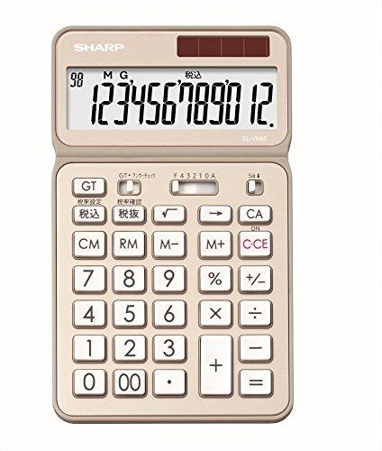 シャープ電卓50周年記念モデルナイスサイズモデルゴールド系EL-VN82-NX