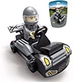 EDUKiE Toys Car, A Racing Car Building Block, A Cool Buildable Gift for 5 Year Old Kid, New 2020 EK1604 Pull Back Car Toy Grey(60 Pieces)