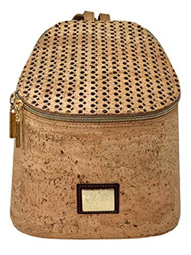 João Afonso Bolso mochila de corcho portugués mochila de vestir pequeña y elegante y de estructura rígida