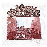 Tarjeta de Felicitación Tarjeta de invitación de Boda Rural Tarjetas de felicitación de cumpleaños de Ducha de Novia (Farbe : Burgundy, Größe : Blank Whole Set)