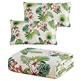 Panama Jack 3 Piece Quilt Set, King Size Quilt with 2 Pillow Shams, Reversible Comforter Set, Machine Washable Bed Spread (Tropical Beauty - King)