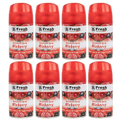 kompatibel zur Airwick Freshmatic 8x 250 ml Mixberry Lufterfrischer Nachfüller Raum Duftspray Raumspray eBook Wohnzimmer Flur Büro Küche WC