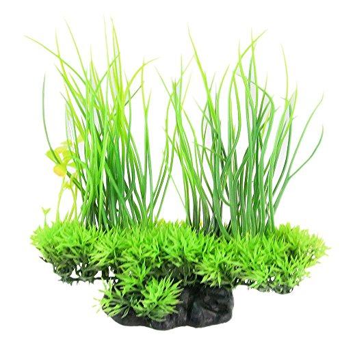Rocita - Plantas Artificiales de Seda para Acuario, decoración Decorativa, Hierba para pecera (Verde) 1 Pieza