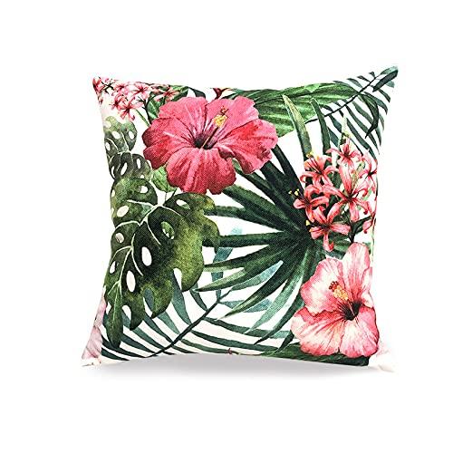 QXbecky Cojines Estampado de Flores y Plantas, Almohada Cuadrada de Alta precisión con núcleo Interior, Accesorios de decoración de sofá Minimalistas Modernos, Cintura de 45 cm