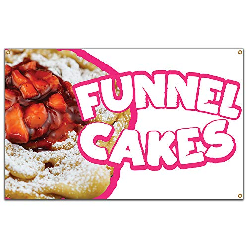 "Funnel Cakes 2 60"" Banner Concession Stand Food Truck Single Sided"