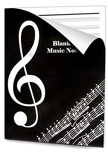 Notebook Musicale OntaRyon - Blocco Note in Carta Manoscritti - Quaderni Pentagrammati - Libri di Composizione per Musicisti - 36 Pagine - Singer Stit