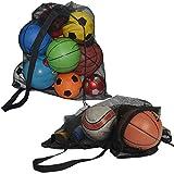 SKOLOO Thicken Drawstring Mesh Ball Bag - Large Mesh Sports Equipment Bags