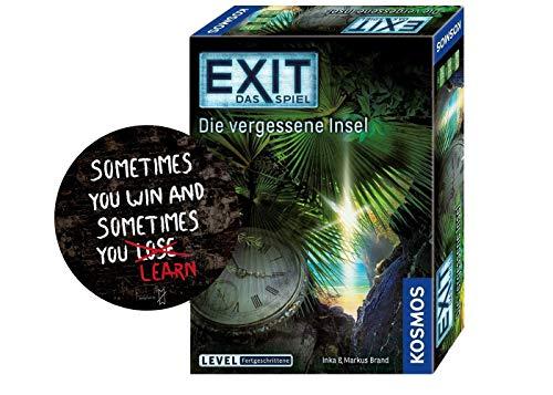 Collectix Kosmos 692858 Exit - Juego de mesa de juegos (incluye 1 pegatina de Exit), diseño de isla olvidada