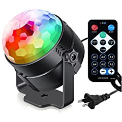 3 sound-activated modes+7 lighting modes + Rotating speed control. BRIGHT 7 MODES CHANGING DISCO LIGHTING: The disco ball light is easy to choose solid colors or multicolored by the handy remote. (red, green, blue, red/green, red/blue, green/blue,or ...