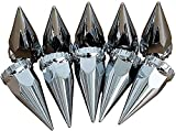 FAYUE Chrome 33mm by 4-3/4 inch Push-On Super Spike ABS Nut Covers for Semi Truck (10 pcs)
