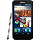 Alcatel One Touch Scribe HD Smartphone (12,7 cm (5 Zoll) Touchscreen, 1,2GHz, Quad-Core, 1GB RAM, 4GB interner Speicher, 8 Megapixel Kamera, Android 4.2) weiß