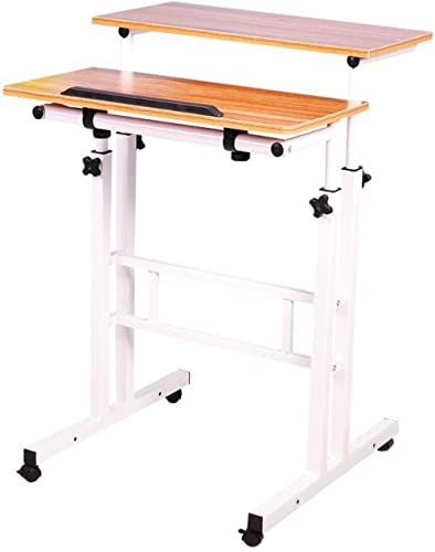 LaCyan Adjustable Height Standing Laptop Desk Office Notebook Stand Multi-Function Computer Workstation (Standard, An...