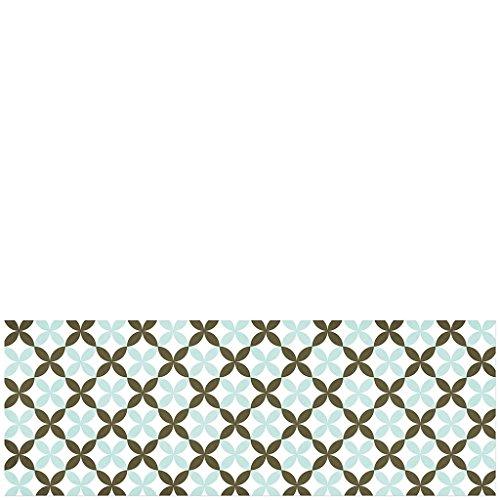Laroom Tapis Vinyle en PVC antidérapant Vert, Marron