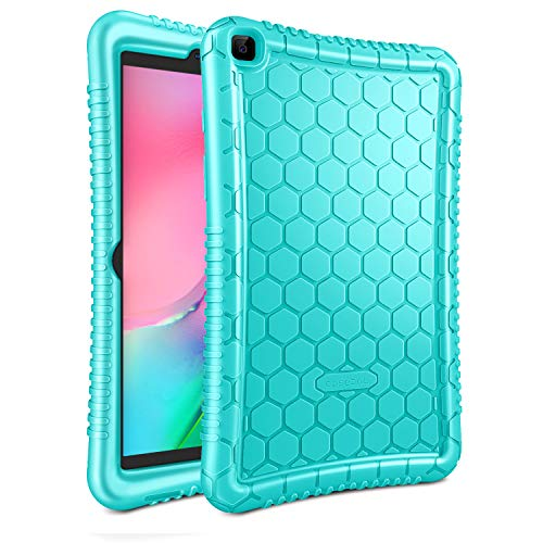 Fintie Silicone Case for Samsung Galaxy Tab A 8.0 2019 Without S Pen Model (SM-T290 Wi-Fi, SM-T295 LTE), Honey Comb Series Kids Friendly Light Weight Shock Proof Protective Cover, Mint Green
