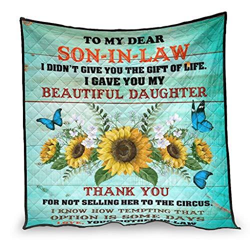 Ballbollbll Manta de verano para dormir con diseño de mariposas, ligera y ligera en sofá para dormir una persona, 230 x 260 cm