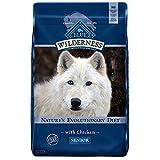 Blue Buffalo Wilderness High Protein, Natural Senior Dry Dog Food, Chicken 24-lb