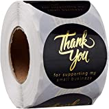 Lot de 500 étiquettes de remerciement pour commerçants en ligne - 3,8 cm - 4 designs - Thank You - Pour mariage, anniversaire