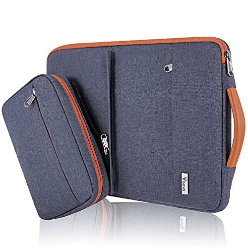 Voova 13 13.3 Inch Laptop Sleeve Case Compatible MacBook Pro/MacBook Air 2020 M1, 13.5' Surface Book 2/3, 13' Chromebook, Waterproof Computer Bag Cover with Detachable Small Pouch & Handle, Dark Grey